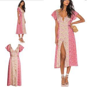 NEW Cinq a Sept Jessica Colorblock Floral Dress